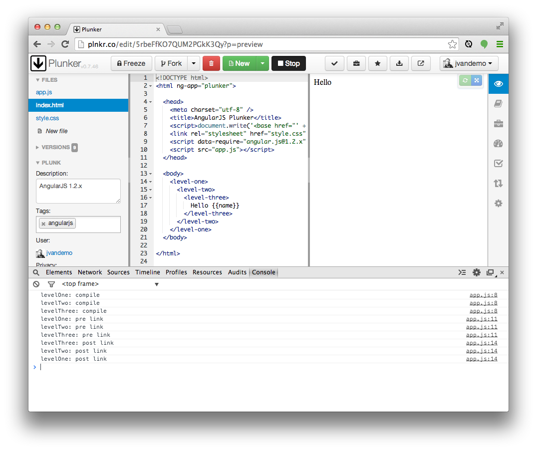 The nitty gritty of compile and link functions inside angularjs the output maxwellsz